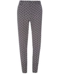 Dorothy Perkins - Tall Black And Ivory Dash Pique Trousers - Lyst