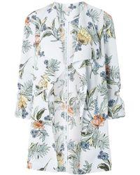 Dorothy Perkins - Petite Multi Coloured Botanical Floral Print Coat - Lyst