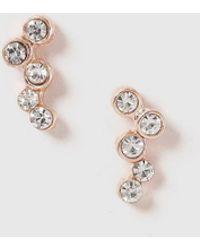 Dorothy Perkins - Rose Gold Mini Climber Earrings - Lyst