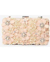 Dorothy Perkins - Blush Floral Box Clutch Bag - Lyst