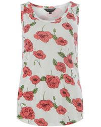 Dorothy Perkins   Coral Multi Floral-print Vest   Lyst