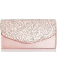 Dorothy Perkins - Quiz Pink Diamante Clutch Bag - Lyst