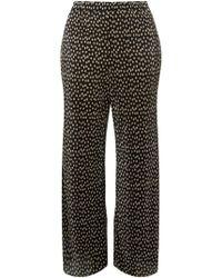 Dorothy Perkins - Dp Curve Black Spot Print Plisse Palazzo Trousers - Lyst