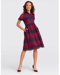 Draper James - Collection Stripe Lace Shirtdress - Lyst