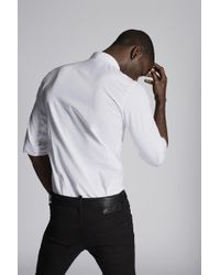DSquared² - Poplin Sexy Roll Up Shirt With Print On Front - Lyst