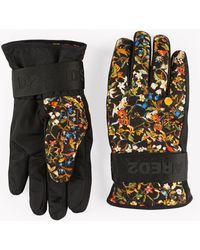 DSquared² - Floral Technical Gloves - Lyst