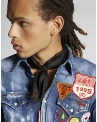 DSquared² - Scout Patch Western Denim Shirt - Lyst