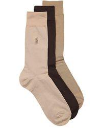 Polo Ralph Lauren - Flat Knit Dress Socks - Lyst