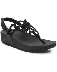 Fitflop - Bumble Crystal Wedge Sandal - Lyst