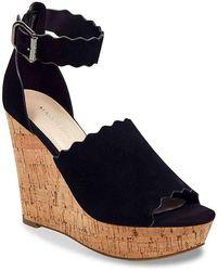 f546b048d1 Lyst - Marc Fisher Hadeya Wedge Sandal in Black