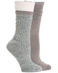 Steve Madden - 2pk Boot Sock Sm42218 - Lyst
