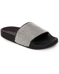 f4b6fb38fe2b Lyst - Madden Girl Fancy Slide Sandals in Black