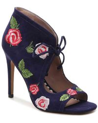Betsey Johnson - Caroline Floral Embroidery Shooties - Lyst