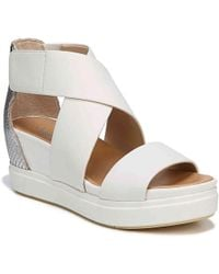 c6029b0613f8 Lyst - Naturalizer Scout Wedge Heel Sandals in White
