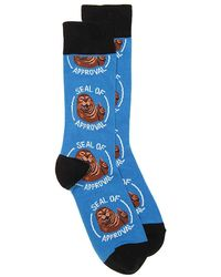 Socksmith - Seal Of Approval Crew Socks - Lyst