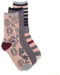 Lucky Brand - Floral Crew Socks - Lyst