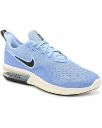 06ab8973d2f Lyst - Nike Air Max Sequent 2 Dark Sky Blue white solar Red Running ...