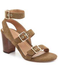 Carmel Banded Leather Block Heel Sandals n24Qr2m1M