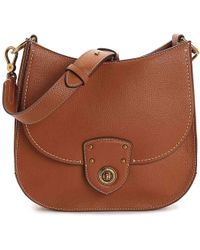 fbe9fc2a40 Lauren by Ralph Lauren - Millbrook Convertible Leather Shoulder Bag - Lyst
