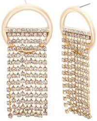Steve Madden - Crystal Dangle Drop Earrings - Lyst
