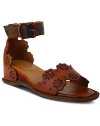 Spring Step - Niarah Wedge Sandal - Lyst