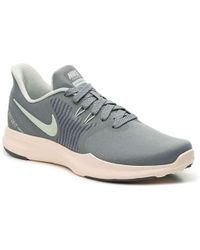 7c28fa3e23dc Lyst - Nike In-season Tr 4 Women Round Toe Synthetic Gray Running ...