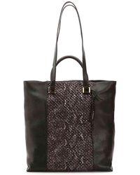 Tahari - Gisele Leather Tote - Lyst