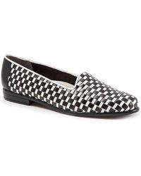 152286b2b3f Trotters - Liz Basketweave Leather Slip-on Loafers - Lyst