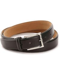 Cole Haan | Contrast Stitch Leather Belt | Lyst