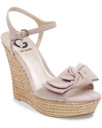 G by Guess - Dalina 2 Wedge Sandal - Lyst