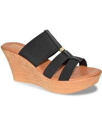 Italian Shoemakers - Vali Wedge Sandal - Lyst