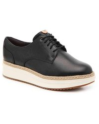 Clarks Teadale Rhea Wedge Oxford - Black