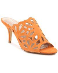 af48c54ea89 Lyst - Calvin Klein Womens Nicki Kitten Heel Pumps in Orange