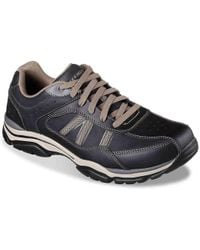Skechers - Rovato Texon Leather Lace Up Shoes - Lyst