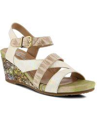 Spring Step - Leanna Wedge Sandal - Lyst
