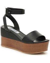 3cd066262938 Lyst - Steve Madden Zilya Wedge Sandal in Brown