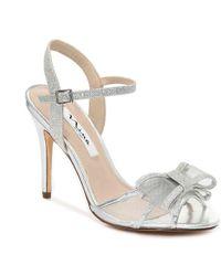 e09bdaeb93d8 Lyst - Nina Chantez Metallic Sandals in Natural