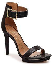4021f10f2b00 Lyst - Calvin Klein Women S Vivian High Heel Sandals in Blue