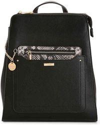 56bdd49dc04 Lyst - ALDO Pobbio Velvet Mini Backpack in Black