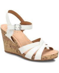 39b662e7c60 Lyst - Marc Fisher Karyna Wedge Sandal in White