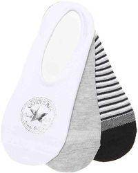 0fd8210d6f4a Lyst - Converse Made For Chucks No-show Women s Socks (white) in White