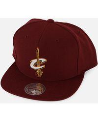 c339a70f525 Mitchell   Ness - Nba Cleveland Cavaliers Basic Logo Snapback Hat - Lyst
