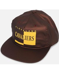 711741b8c93 Mitchell   Ness - Cleveland Cavaliers Rainy Day Pinch Strapback Hat - Lyst
