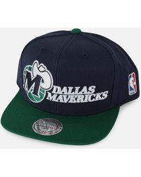 f40108242ecf2 Lyst - Mitchell   Ness Dallas Mavericks Team Stripe Zipback Hat in ...