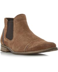 Dune | Chili Toecap Detail Suede Chelsea Boots | Lyst