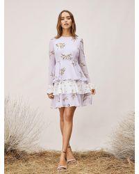 Neck Diane In Von Lyst High Halter Dress Furstenberg Blue Sleeveless n0vwNOm8