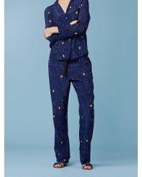 Diane von Furstenberg - Wide Leg Zodiac Pajama Pant - Lyst