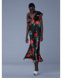 Diane von Furstenberg - Asymmetric Sleeve Knotted Gown - Lyst