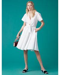 Diane von Furstenberg - Short Sleeve Collared Shirt Dress - Lyst