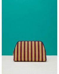 Diane von Furstenberg - Raffia Cosmetic Pouch - Lyst